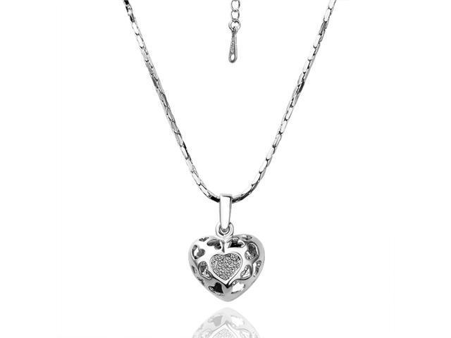Chloe (White Gold) 18K gold plated Rhinestone Crystal Pendant Necklace