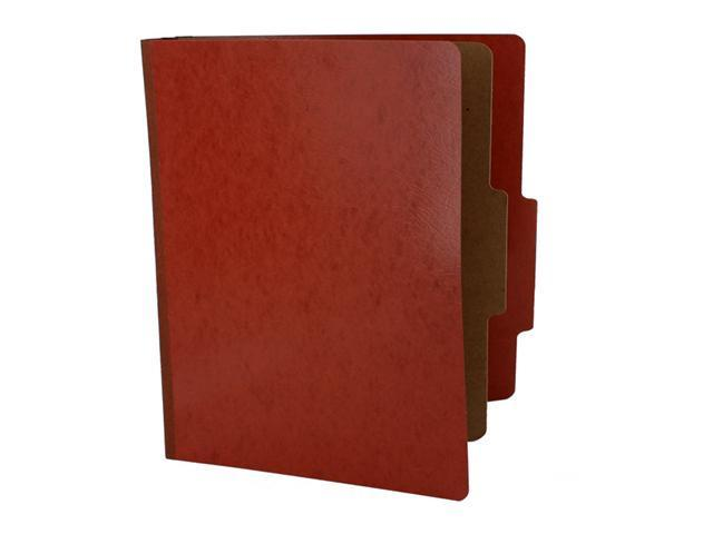 Acco Presstex 20-Point Classification Folders, Legal, 4-Section, Red, 10/Box, BX - ACC16004