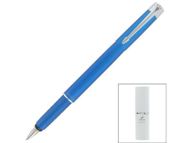 Parker Esprit Telescoping Matte Blue Metal Medium Fountain Pen