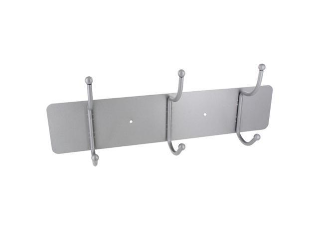 Buddy Clothing Care Three Hook Rack on Metal Platform, Silver