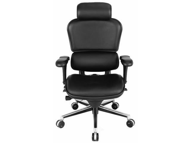 Eurotech Ergohuman Ergonomic High Back  Executive Leather Chair with Arms Black