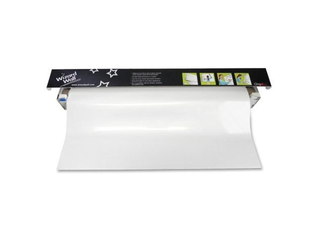 Wizard Wall Cling On Static Dry Erase Jumbo Sheet Roll Film, White, 13 in x 25 ft