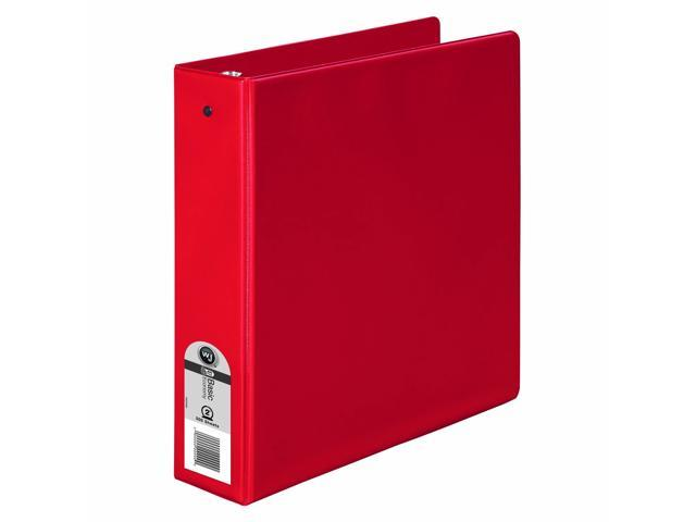 Wilson Jones Basic Round Ring Binder, 2 Inch Capacity, 8.5 x 11 Inches, Red, Pack of 12