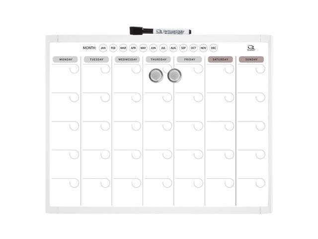 Quartet Magnetic Dry-Erase Calendar Planner, 11 x 14 Inches, White Frame (22475), 1 Each