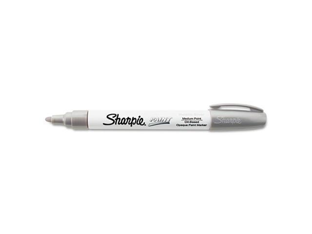 Sharpie Paint Marker, Oil Based, Medium Point, Silver, EA - SAN35560