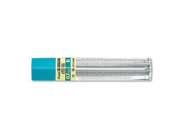 Pentel Super Hi-Polymer Lead Refills, 0.7mm, B, Black, 12/Pack, PK - PEN50B