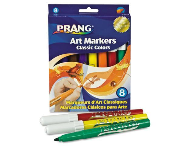 Dixon Prang Classic Art Markers, Conical Tip, Eight Colors, 8/Pack, ST - DIX80128