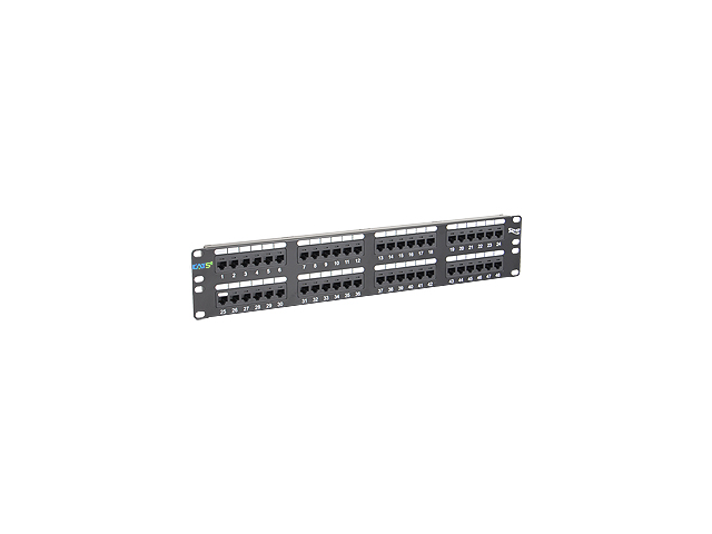 PatchPanel 48PT, CAT5E, 2RMS