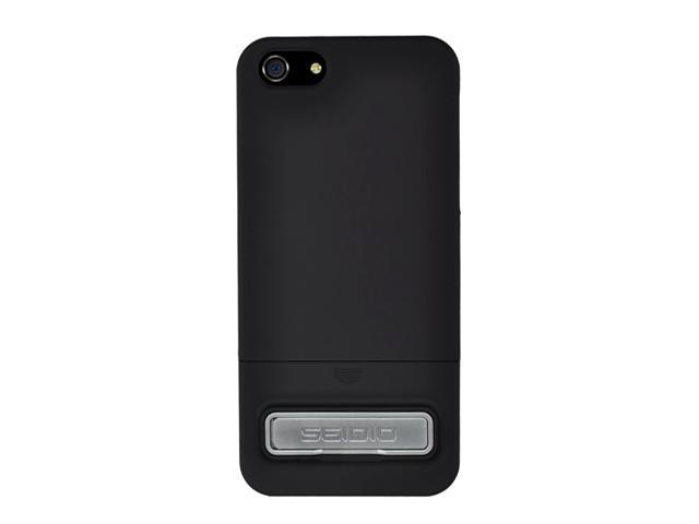 Seidio SURFACE (w/Kickstand) Piano Black Case For iPhone 5 / 5S CSR3IPH5K-PB