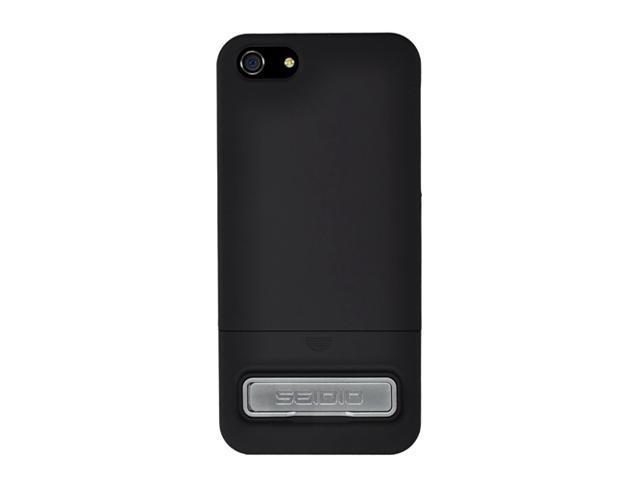 Seidio SURFACE (w/Kickstand) Piano Black Case For iPhone 5 / 5S CSR3IPH5K-PB