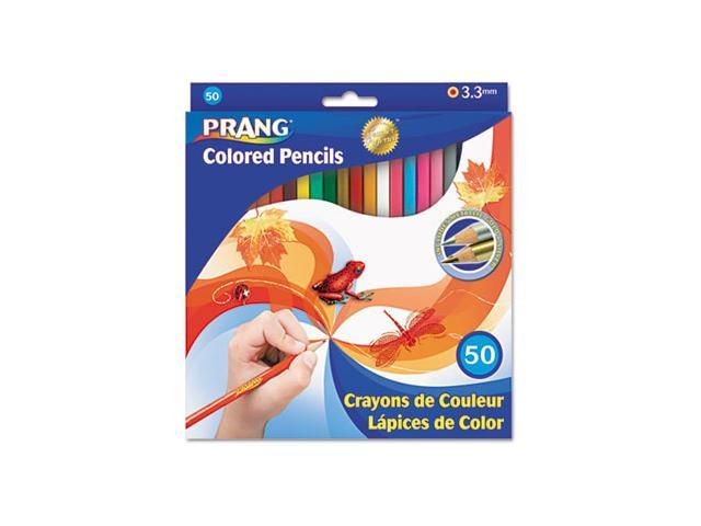 Colored Woodcase Pencils, 3.3 mm, 50 Assorted Colors/Set - DIX22480