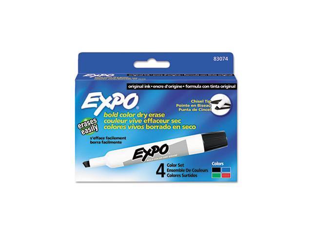 Dry Erase Markers, Chisel Tip, Assorted, 4/Set - SAN83074