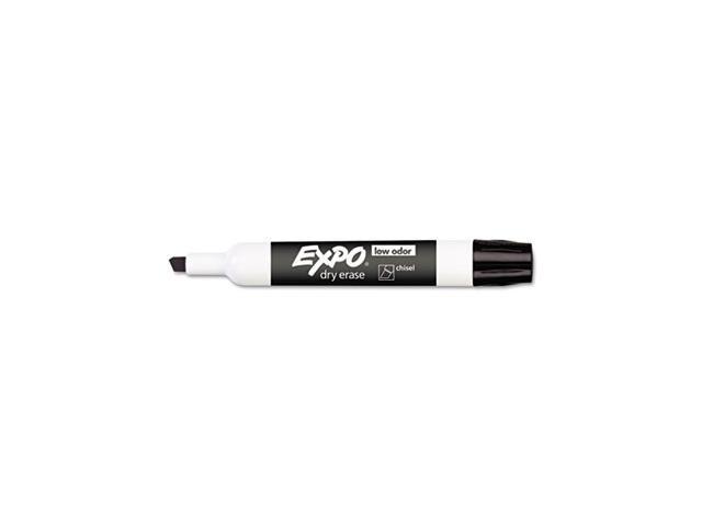 Low Odor Dry Erase Marker, Chisel Tip, Black, Dozen - SAN80001
