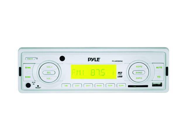 Pyle Plmr88w Marine Single-Din Mechless Receiver (White)