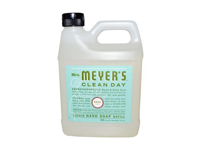Mrs. Meyer's Liquid Hand Soap Refill - Basil - 33 lf oz