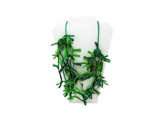green knotted necklace - Case of 4