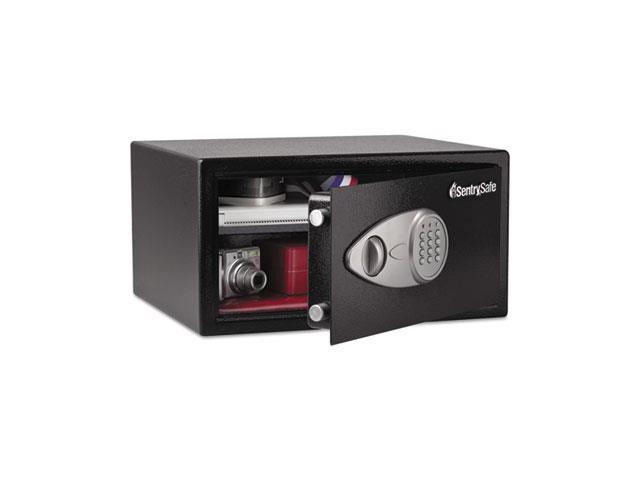Electronic Lock Security Safe, 1.0 Ft3, 16-15/16W X 14-9/16D X 8-7/8H, Black