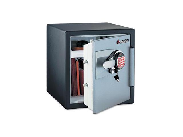 Electronic Safe, 1.2 Ft3, 16-11/32W X 19-5/16D X 17-27/32H, Black/Gunmetal Gray