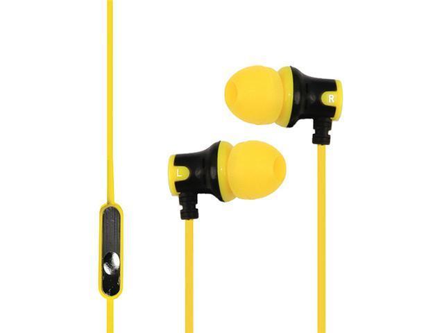 Subjekt AMP-M1150 AMP'D Earphones with Microphone - Yellow