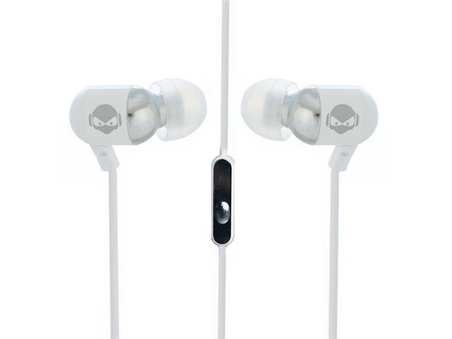 Subjekt RAVE RAV-M8952 Canal Bass Enhanced Earphone with Microphone - White