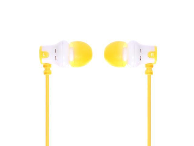 SUBJEKT AMP'd Earphones - White / Yellow