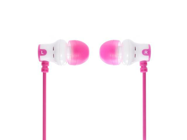 Subjket AMP-1136 Amp'd Earphones - White / Pink
