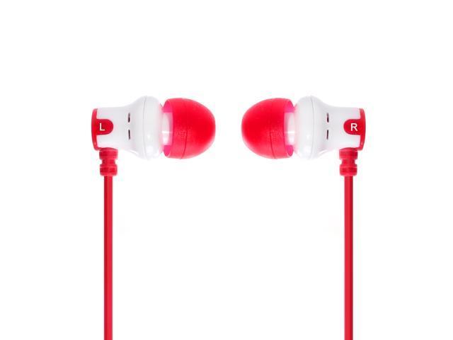 Subjekt AMP-1137 Amp'd Earphones - White / Red