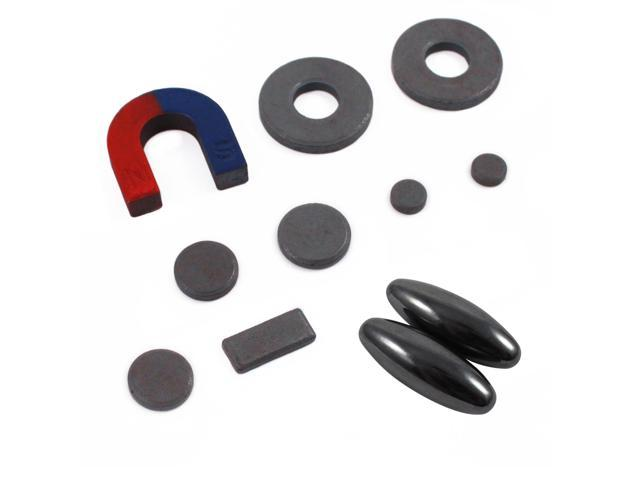 Universal 11pc Magnet Educational Set with Noise Making Magnets