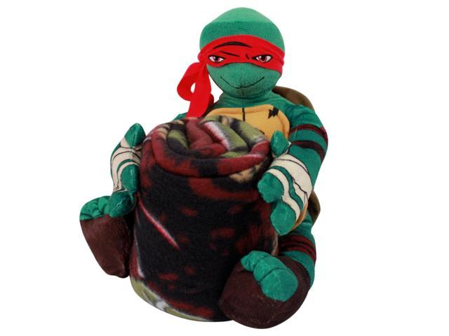 Teenage Mutant Ninja Turtles Raphael Stuffed Plush Toy Animal With Blanket