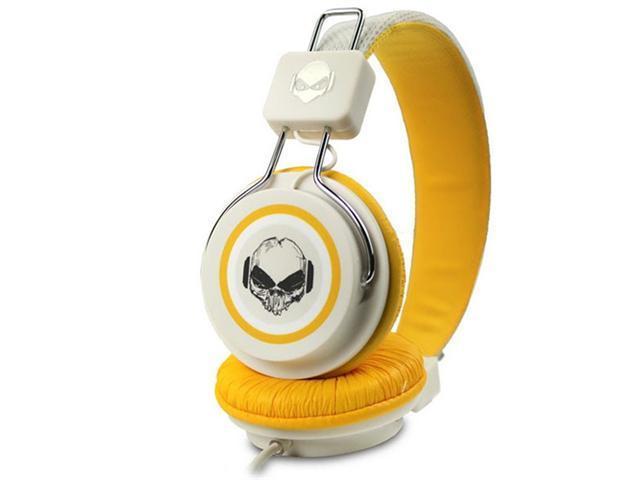 Subjekt TNT-QM1123 Headphones with Mic - Cranium - White/Yellow