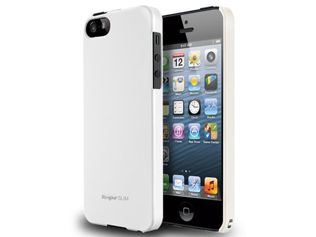 [LF White] Apple iPhone 5 Ringke SLIM Light Feeling Premium Hard Case [AT&T, Verizon, Sprint, Unlocked] - Rearth ECO Package