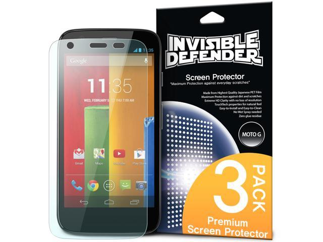 Moto G 2013 Screen Protector - Invisible Defender Moto G 1st Gen. 2013 [3 Free/MAX HD CLARITY] Lifetime Warranty Perfect ...