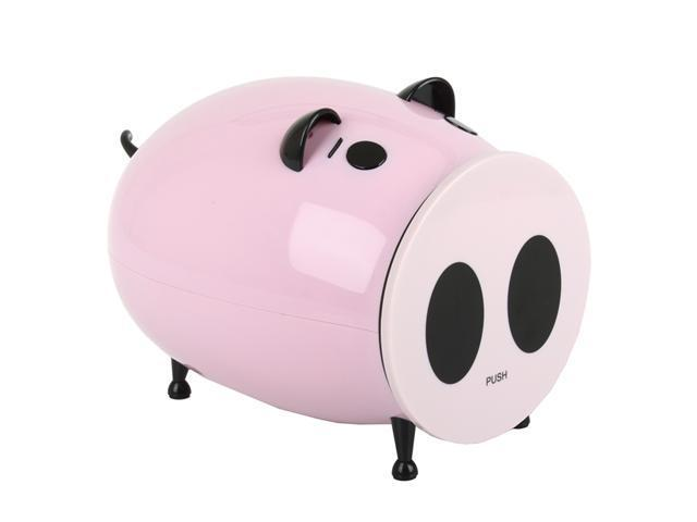 Merax Multimedia CD/DVD Desktop Storage, Piggy Design, Pink, 60 Disc Capacity