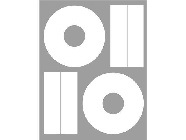 Merax High Gloss CD/DVD Labels, 40mm, 100-Pack