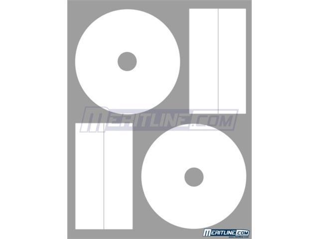 Merax Matte White CD/DVD Labels, 22mm, Full Coverage, Laser/Inkjet (50 Sheets/100 Labels)