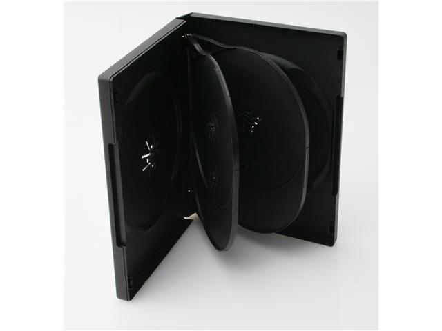 Merax 6-Disc DVD Case, 22mm, Black Color, 10-pack