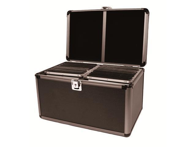 Merax Aluminum-like Hard Case, 200 Disc Capacity, Black Color