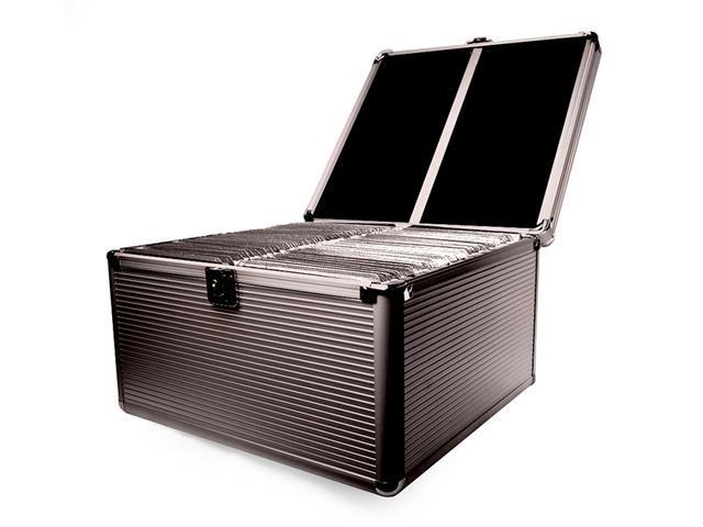 Merax Aluminum-like Hard Case, 300 Disc Capacity, Black Color