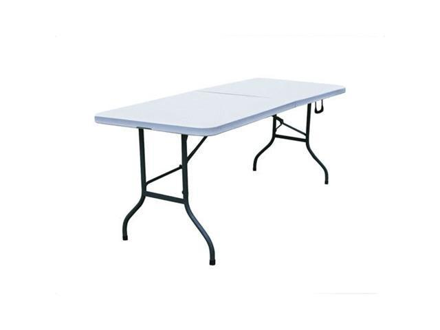 Merax All Purpose 6 Foot Rectangular Fold-In-Half Table, Lt. Grey