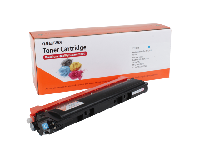 Merax Compatible Cyan Toner Cartridge for Brother TN210C (TN 210)