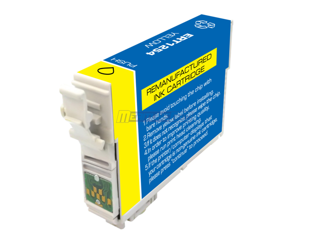 Merax Remanufactured Standard Yield Pigment Yellow Inkjet Cartridge by Epson T125420 (T125)