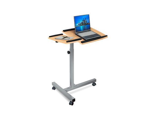 Merax Height Adjustable Laptop, iPad Computer Desk/Stand, Maple