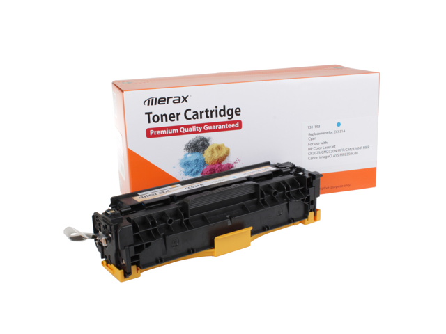 Merax Compatible Cyan Toner Cartridge for  HP CC531A (304A)