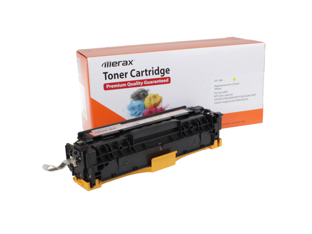 Merax Compatible Yellow Toner Cartridge for HP CC532A (304A)