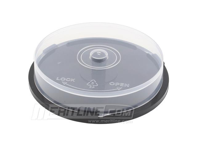 10 Disc Capacity CD /DVD Storage Cake Box. Black Base with Spindle for CD /DVD Disc Storage. Premium Quality. 24 Pack Bulk.