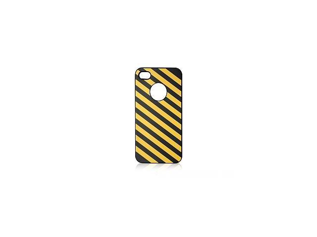iShell Zebra Series Hard Thin Back Cover for iPhone 4/4S - Yellow