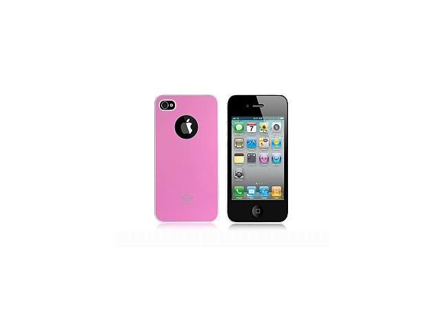 iShell Bi-Color Series Skin-Fit Back Cover for iPhone 4/4S - Pink/White (Summer Edition)