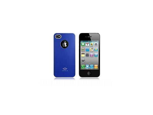 iShell Bi-Color Series Skin-Fit Back Cover for iPhone 4/4S - Blue/White (Summer Edition)