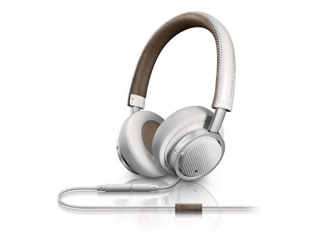 Philips Fidelio M1 (M1WT) - High Fidelity On-Ear Headphones Wired Noise-Isolating Headset with Smartphone Remote and Microphone (White)