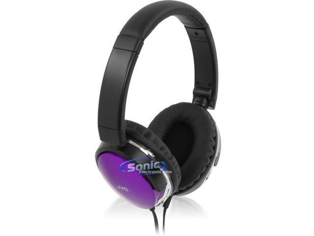 JVC HAS660V Noise Isolating Over-Ear Stereo Headphones (Violet Purple HA-S660)